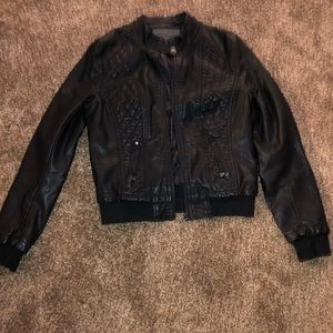 Discovery synthetic leather jacket color Black